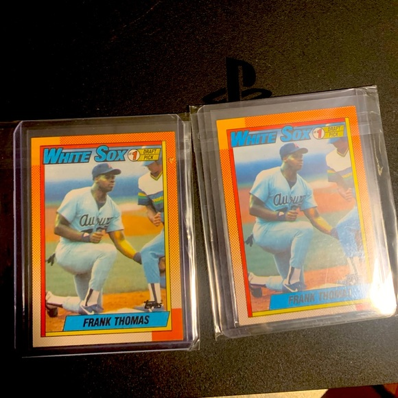 2 frank thomas rookie cards mint condition